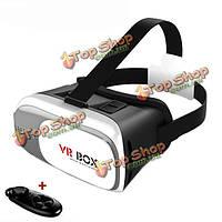 Вр коробка 2.0 Google картон вр виртуальной реальности 3D-очки с Bluetooth дистанционным управлением