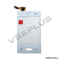 Тачскрин (сенсор) LG E400 Optimus L3, белый