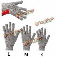 Срезанные безопасность доказательство ножевые стойкой нержавеющей стали металлической сетки мясник перчатки для промышленного труда ис