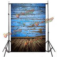 5x7ft 2.1x1.5см синий деревянный пол фотографии фон фон фото студия проп