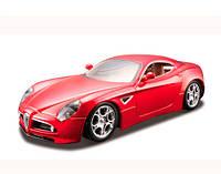 Модель автомобиля Alfa 8C Competizione, красный металлик, 1:32, Bburago (18-43004-1)