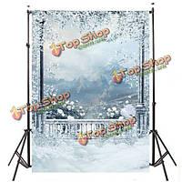 3x5ft 0.9x1.5m винил на открытом воздухе снег студия проп фотографии фона, фото 1