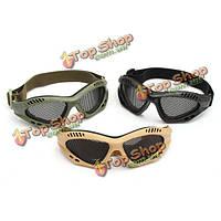Trixes Tactical SWAT Airsoft очки для защиты глаз нет тумана металлической сетки очки