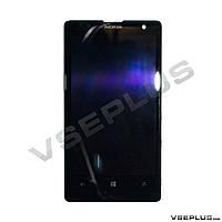 Дисплей (экран) Nokia Lumia 1020, черный, с сенсорным стеклом