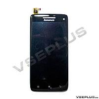 Дисплей (экран) Lenovo S960 Vibe X, черный, с сенсорным стеклом