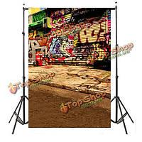 5X7ft 2.1x1.5m уличные граффити стены фотографии фоном фоны фото студия реквизита