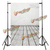 5x7ft 2.1mx1.5m деревянный пол кирпича свадебная тема студия реквизита фотографии фона