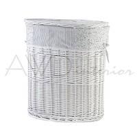 Корзина для белья с крышкой плетеная L белая Provanse AWD02240681