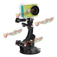 Телесин тонная модель 8cm присоске кронштейн автомобиля присоска для Gopro герой 4 3 плюс Xiaomi Yi SJ4000 камера