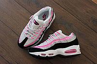 Женские стильные кроссовки Nike WMNS Air Max 95 White Pink