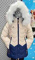 Зимнее пальто для девочки, последне, Польша, на рост 116-122см
