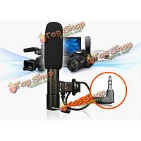 МИК-01 3.5 мм стерео цифровая студия звукозаписи микрофон дробовик для Canon Nikon DSLR камеры Pentax