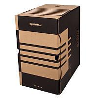 Бокс для архівації докум., 200мм, коричн.7663401PL-02
