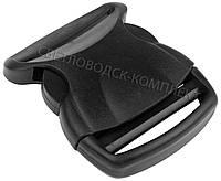 Застёжка фастекс 50 мм пластик, цв. чёрный, арт. ФК-5009