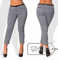Женские брюки коттоновые, батал  размер 50-56