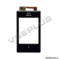 Тачскрин (сенсор) Nokia Asha 503 Dual Sim, черный