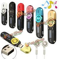 MP3 музыкальный плеер FM 16Гб Mini LCD USB диктофон с наушником