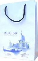 Пакет бумажный с логотипом (130х116х50 мм) №15