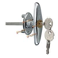 Универсальный медный цилиндр гараж качению открывания двери т замок ручка с замком безопасности 2 ключа