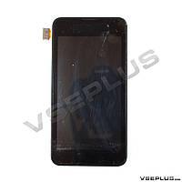 Дисплей (экран) Nokia Lumia 530 Dual Sim, черный, с сенсорным стеклом