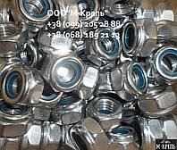 Гайка М22 DIN 985, ISO 10511 самозажимная из нержавейки А2, А4