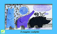 Набор фигурной пастели медведь слон носорог Djeco DJ08869 (DJ08869)