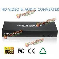 HDMI в VGA/YPbPr конвертер адаптер HD видео аудио конвертер