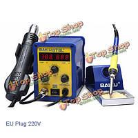 BAKU BK-878l2 700Вт 220В ес штекер 2в1 паяльная станция паяльника и фена