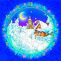 Часы Рождественская ночь, Сборная модель из картона, Умная бумага 126-12 (126-12)