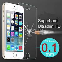 Защитное стекло для iPhone 5/5S 0.12 mm с закругленными краями Veron (2.5D)