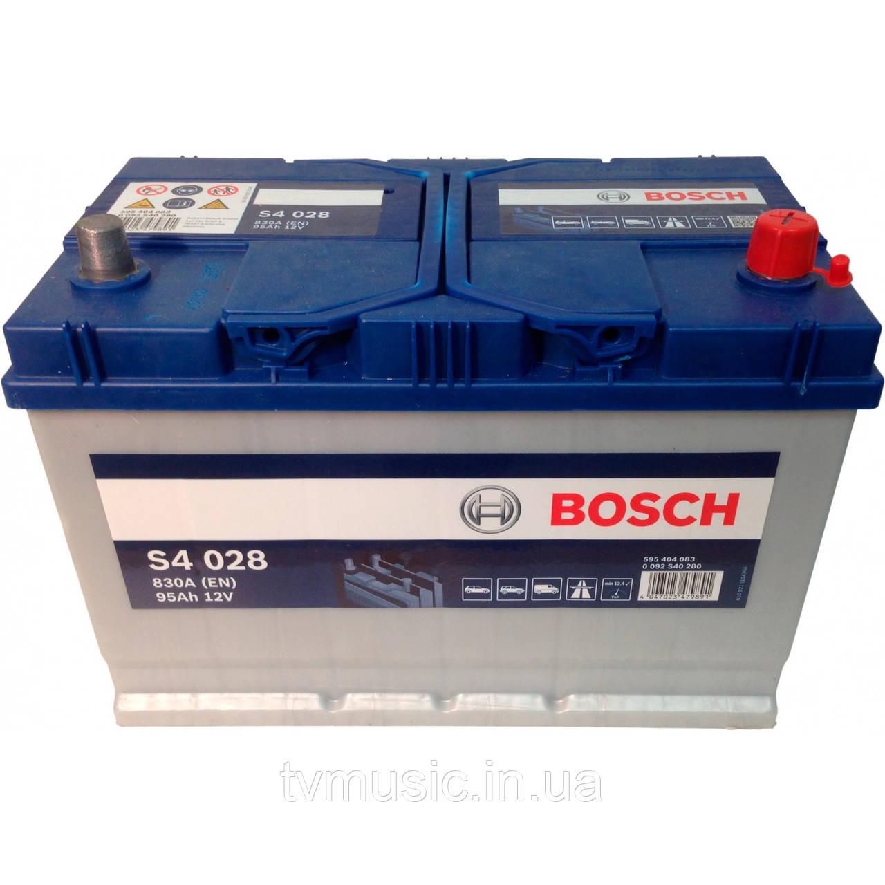 Аккумулятор Bosch S4 028 Silver 95Ah 12V Азия (0092S40280)