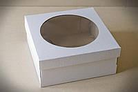 Упаковка для Чизкейка с окном 250*250*110 мм
