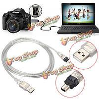 1.5м/5ft USB 2.0 мужчина к 4-контактный кабель IEEE 1394 FireWire ведущий адаптер конвертер