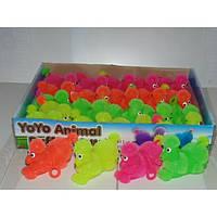 Резиновая светящиеся игрушка пудель йо-йо