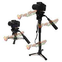 YUNTENG 288 камера монопод с панорамированием жидкости держателя головки для подставку в Canon Nikon DSLR камеры