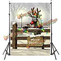 3x5ft 0.9 х 1.5м Рождество Рождественский винил фотографии студии реквизита фон