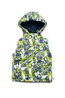 Детская жилетка для мальчиков, демисезонная куртка-жилетка со съемными рукавами