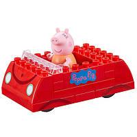 Конструктор детский Peppa Pig Семейная машина 1 Фигурка 16 Деталей (06035)
