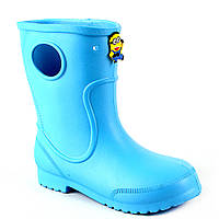 Сапоги детские голубые -116602