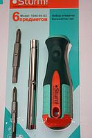 Отвертка перевертыш 6 предметов Sturm 1040-09-S2, фото 1