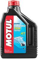 Масло моторное для дизельных лодочных моторов Motul Inboard Tech 4T 15W50, 2л