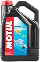 Масло моторное для дизельных лодочных моторов Motul Inboard Tech 4T 15W50, 5л