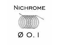 Нихромовая проволока 0,1 мм Х20Н80 (138 Ом) - 20 м