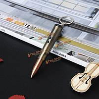 4в1  мини-пуля форма кулон EDC брелок выживания многофункциональный обороны Tactical ручка