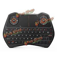 РИИ i28 2.4 ГГц беспроводная клавиатура с подсветкой Сенсорная панель летать управления воздушным мыши с гнездом для наушников