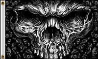 Флаг Hot Leathers Shredder Skull