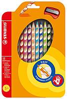 Карандаши 12 цветов для правши с точилкой STABILO EASYcolors290224