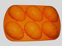 Силиконовая форма для выпечки Пасхальные яйца 6 штук Empire ЕМ 7199