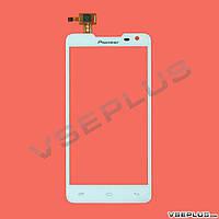 Тачскрин (сенсор) Pioneer S90W, Prestigio MultiPhone PAP 5044 DUO, белый