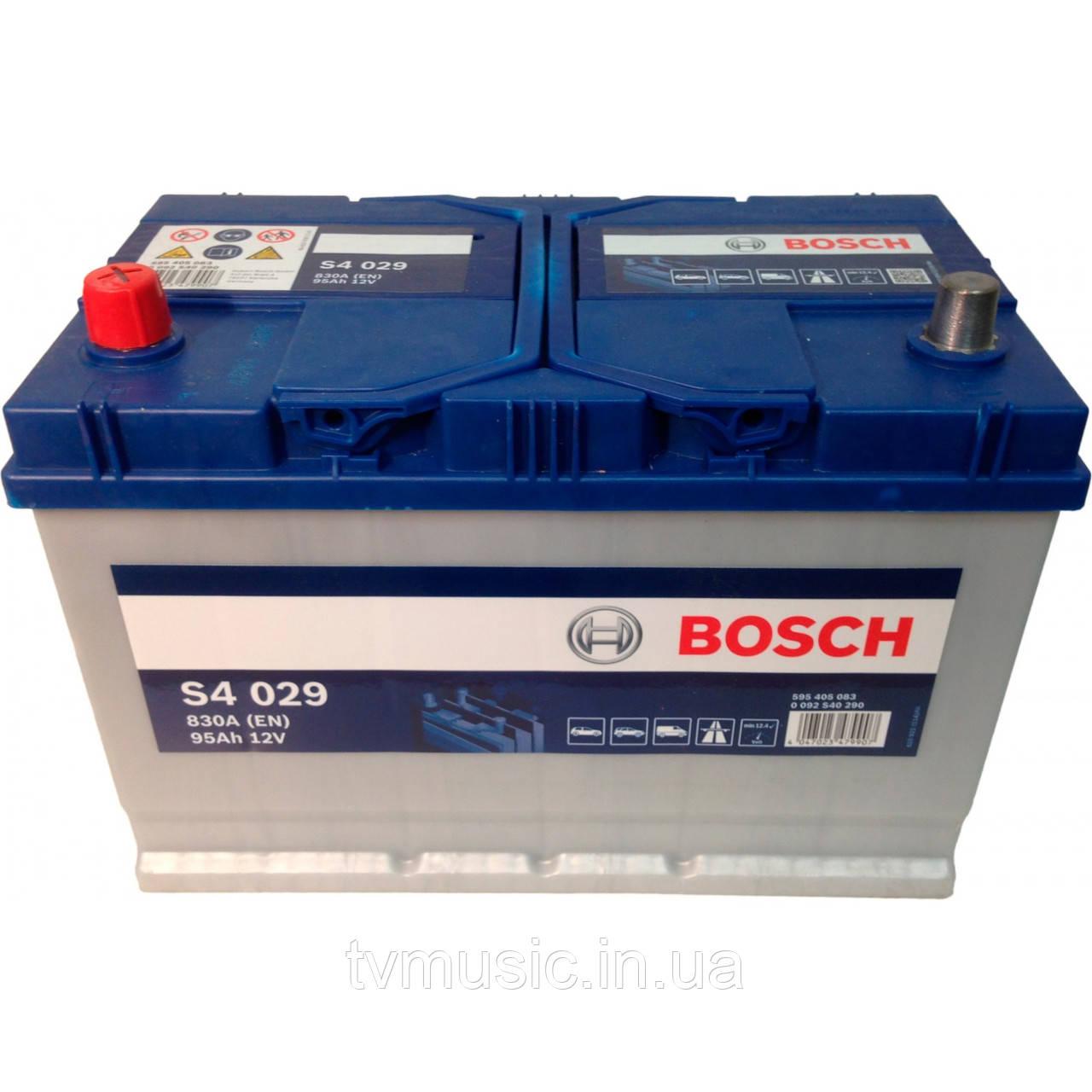 Аккумулятор Bosch S4 029 Silver 95Ah 12V Азия (0092S40290)